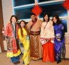 WMU students in international costumes