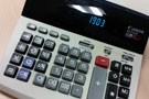 Photo of financial calculator