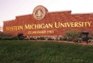 Entry sign to Western Michigan University