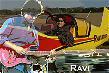 Photo of Ravi, pilot and guitarist.